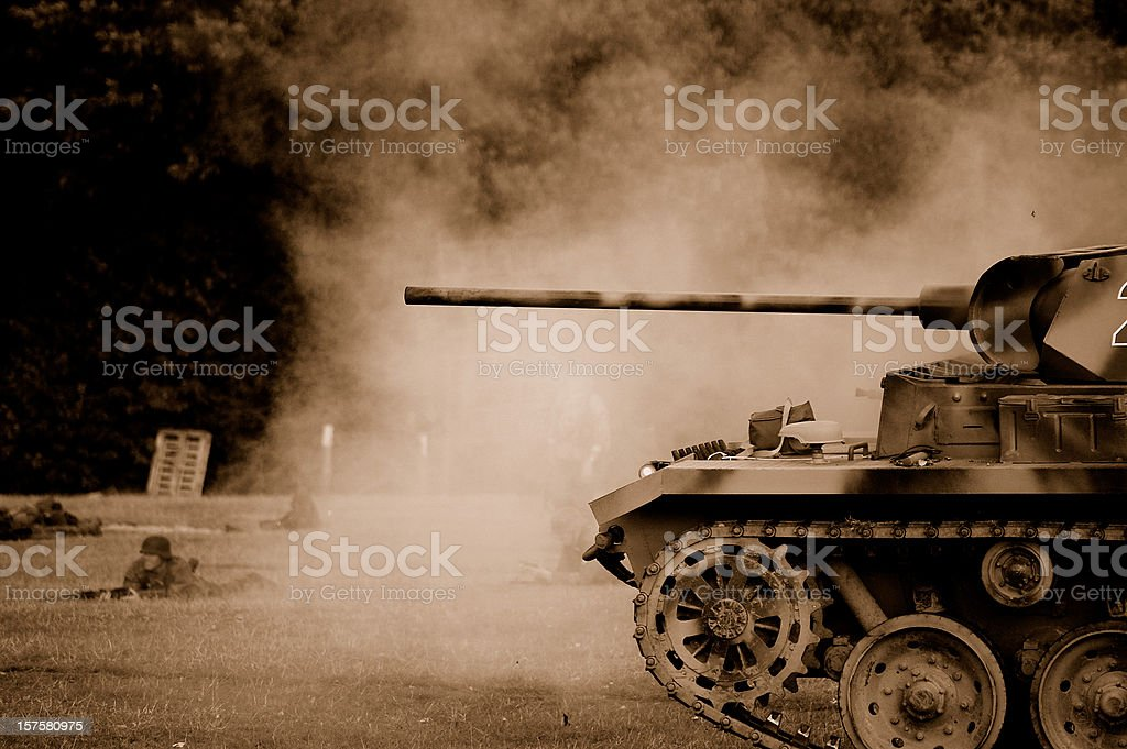 Tank Battle. stock photo