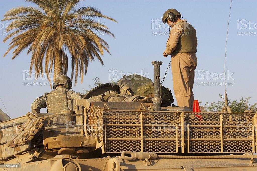 Tank Crew royalty-free stock photo