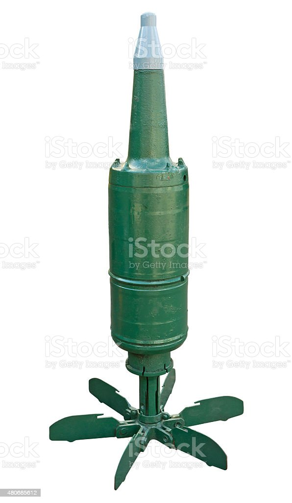 Tank cumulative munition stock photo