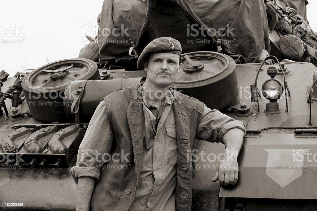 WW2 Tank driver. stock photo