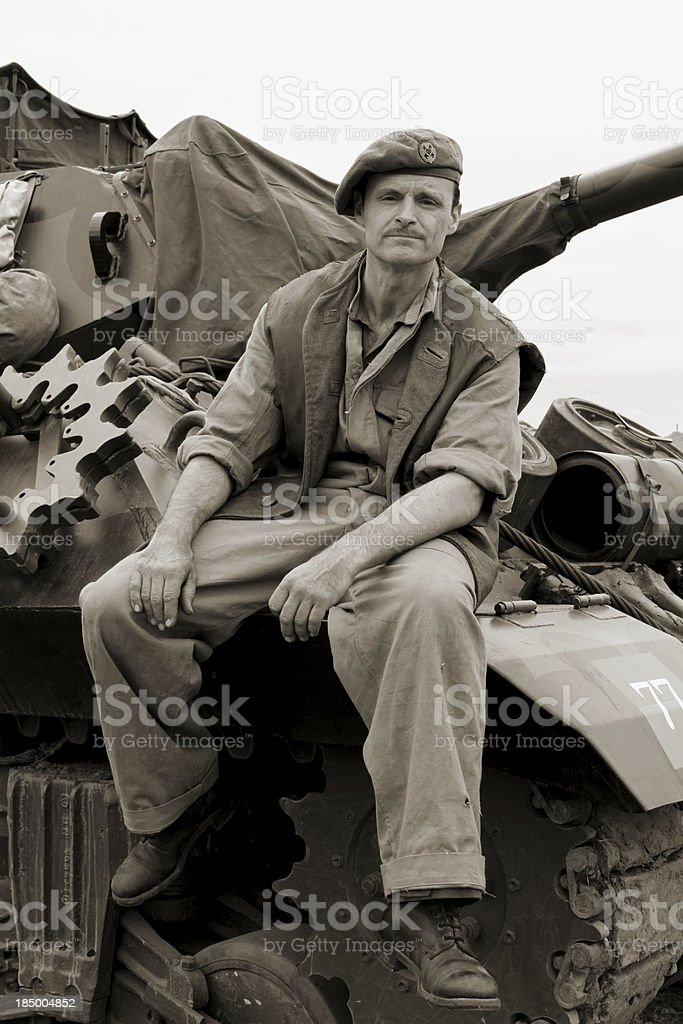 WW2 Tank driver. stock photo