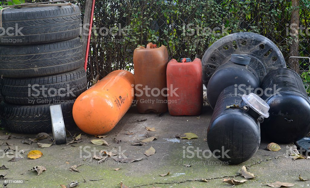 tank for liquefied petroleum gas stock photo