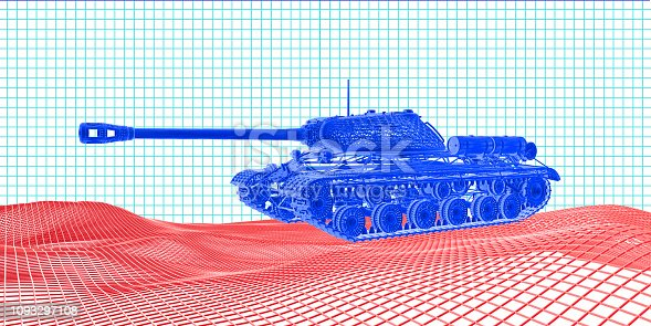 New generation tank on the land.
