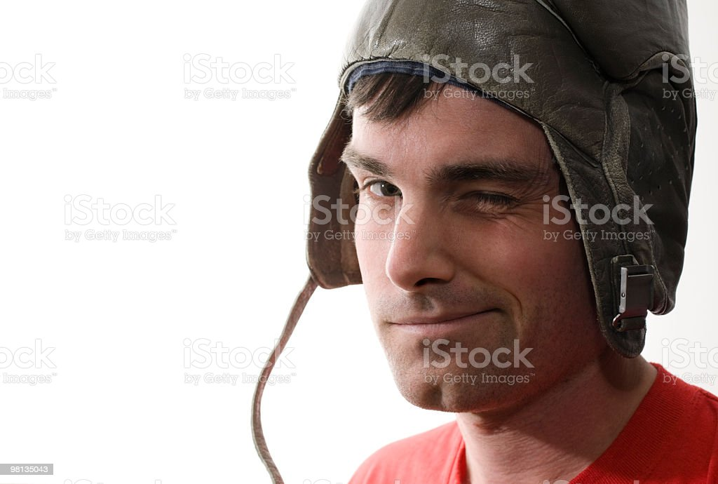 Tank helmet man royalty-free stock photo
