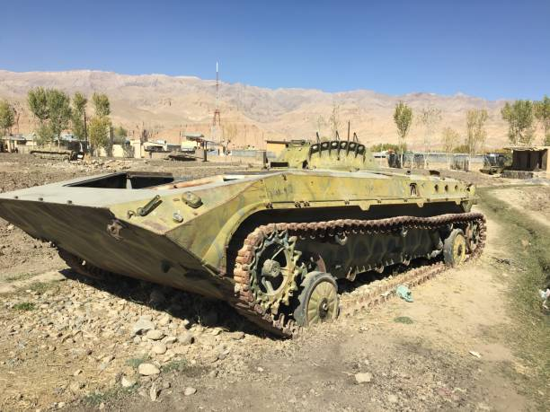 Tank in Afghanistan stock photo