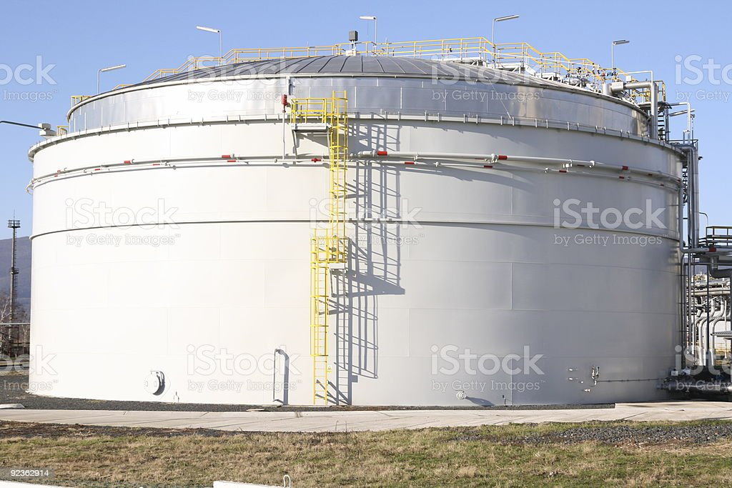 Tank in petrochemical factory royalty-free stock photo
