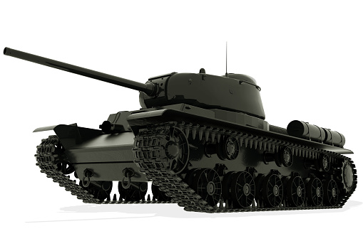 Tank isolated on white background. 3D rendering