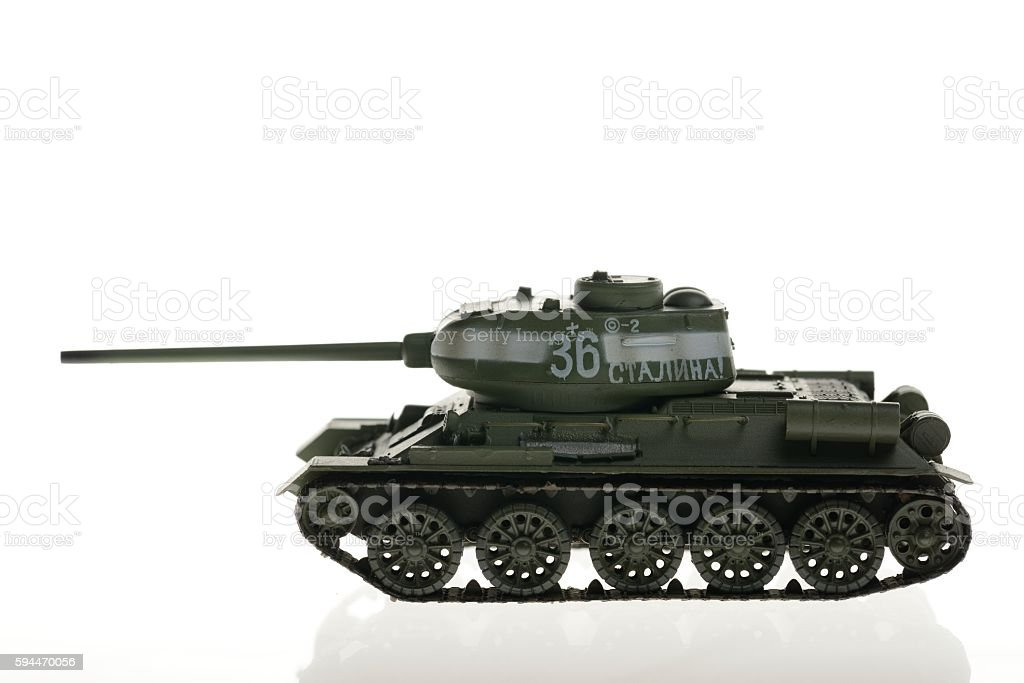 WW2 Tank model stock photo