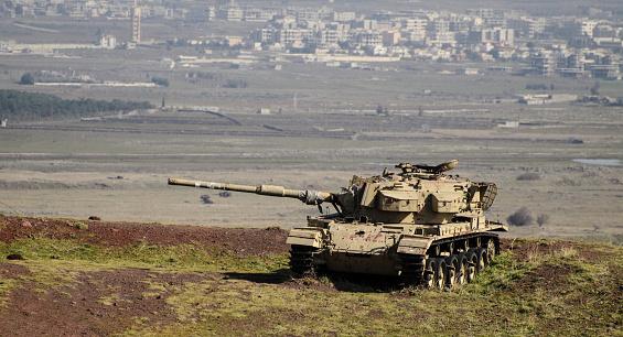 istock A tank on a Syrian border 914267502