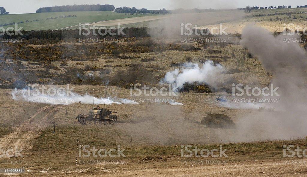 Tank on the Field stock photo