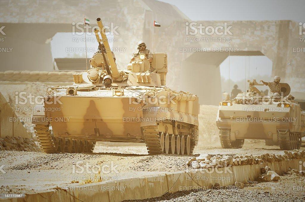 Tank auf der Straße – Foto