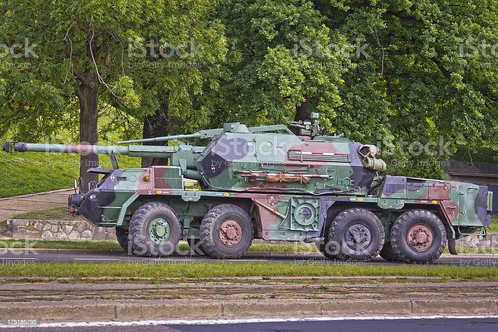 Tank on the street royalty-free stock photo