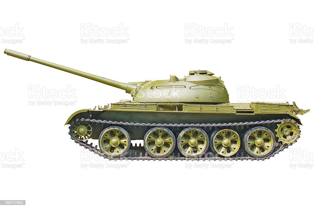 Tank on white background stock photo