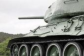 Old Soviet Union tank