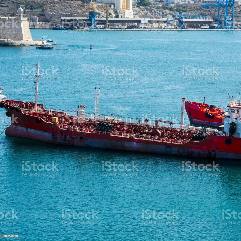 Tank ship for transporting fuels zbiór zdjęć royalty-free