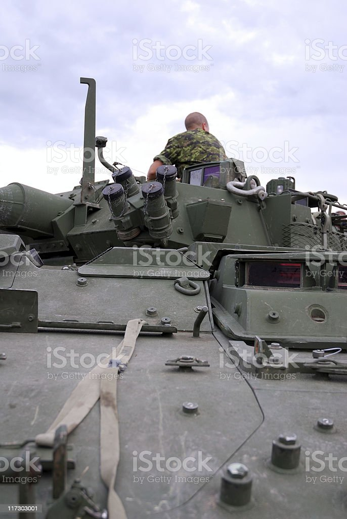 Tank soldier royalty-free stock photo