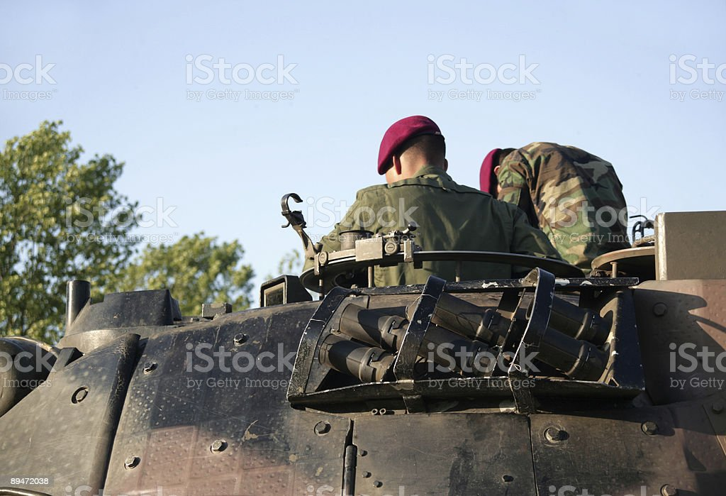 Tank Soldiers royalty free stockfoto