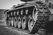istock Tank tracks 1219059894