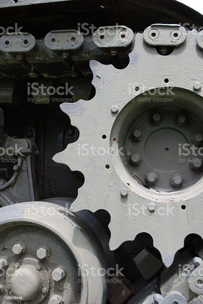 Tank Tread and Gears stock photo