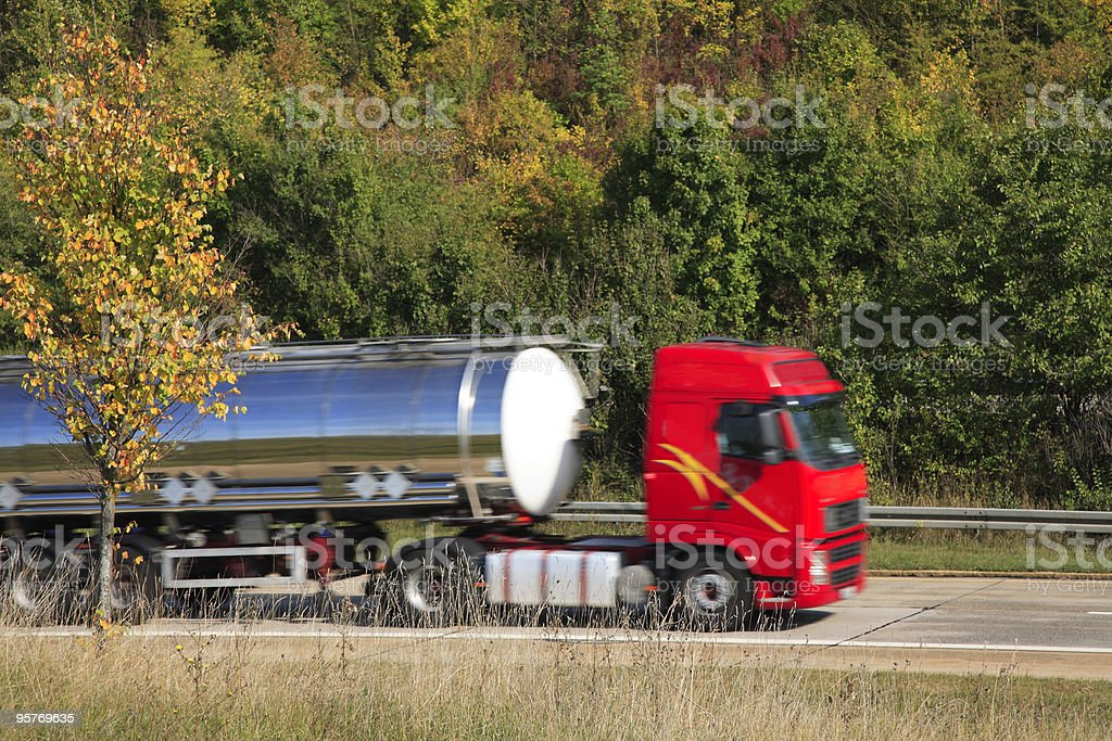Tank Truck in Motion royalty-free stock photo
