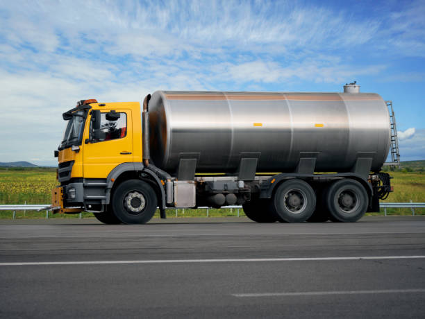 Tank truck on the road