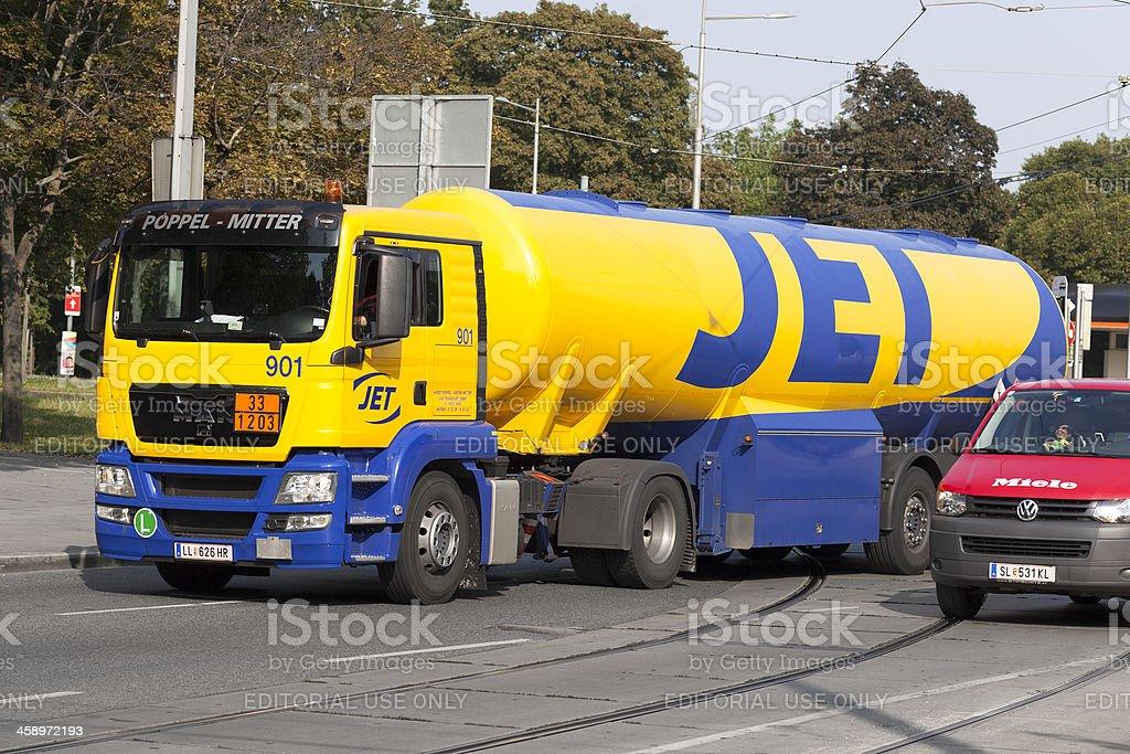 Tank truck royalty-free stock photo