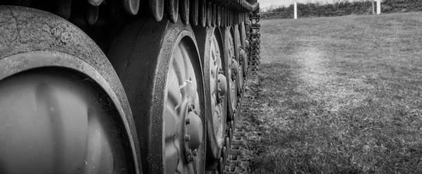 Tank wheels stock photo