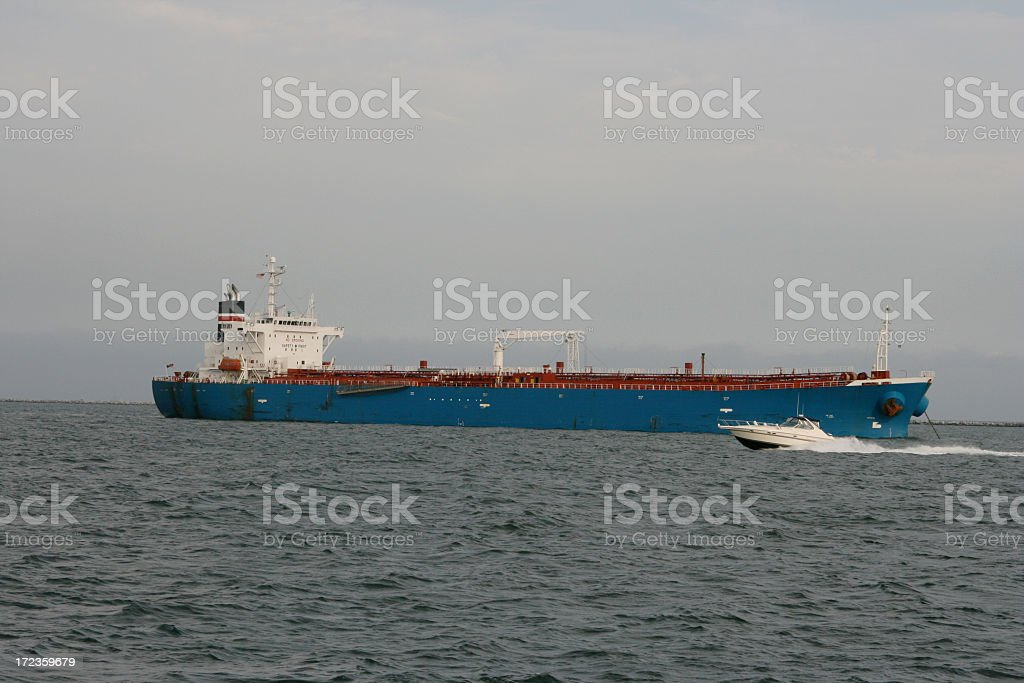 Tanker and Tiny Tripper royalty-free stock photo