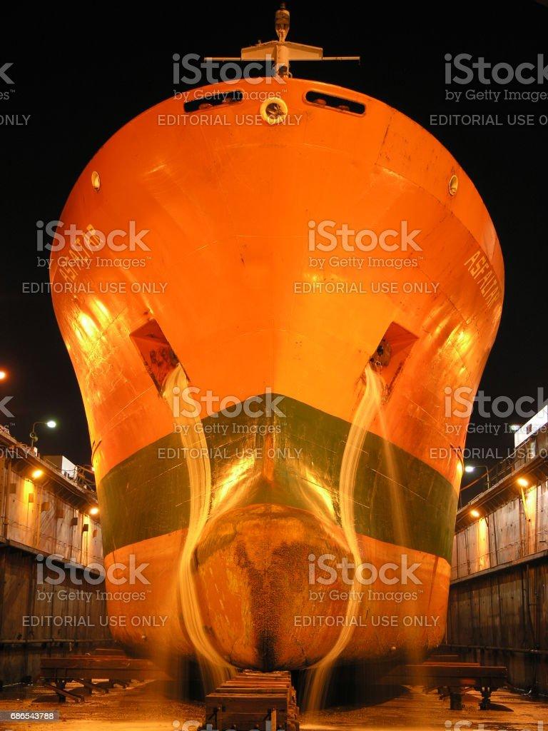 Tanker 'Asfaltar' stock photo