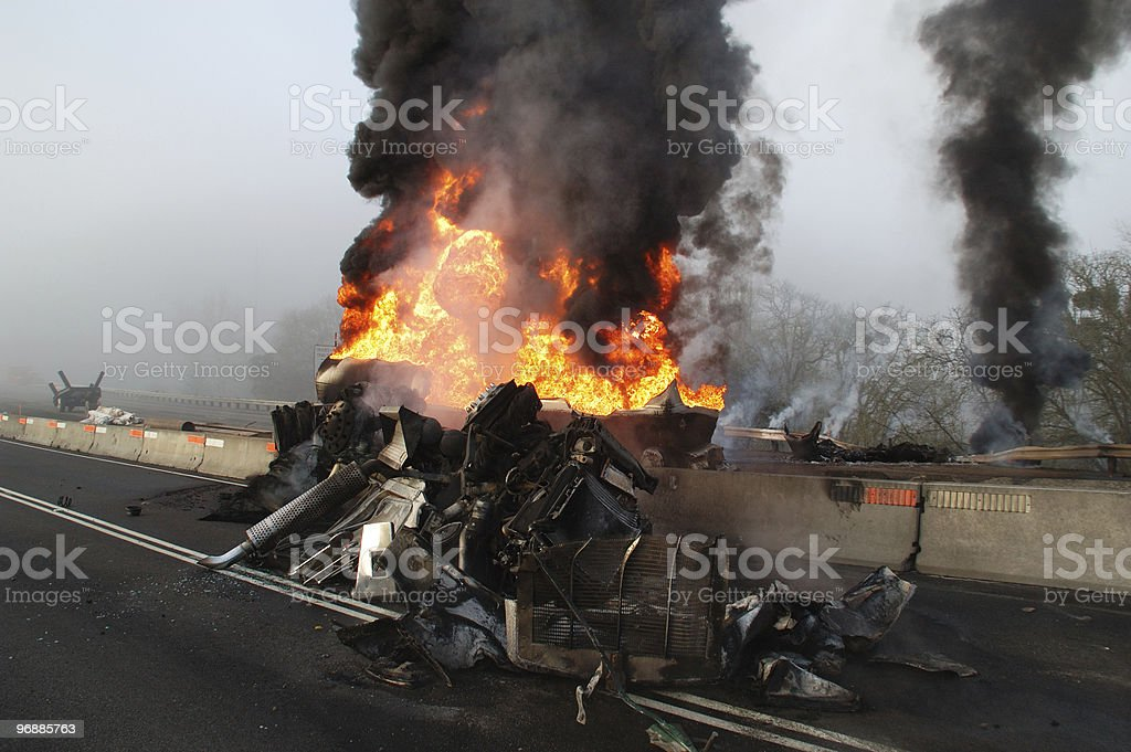 tanker fire royalty-free stock photo