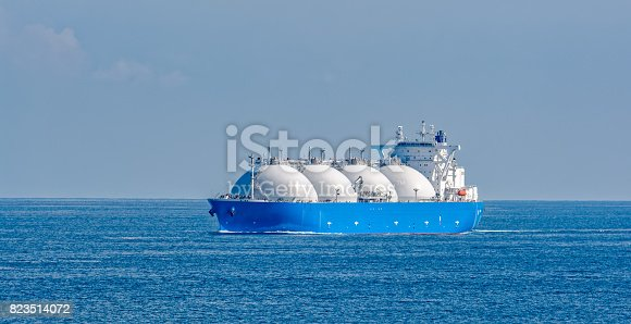 istock LNG tanker is passing by Singapore Strait. 823514072