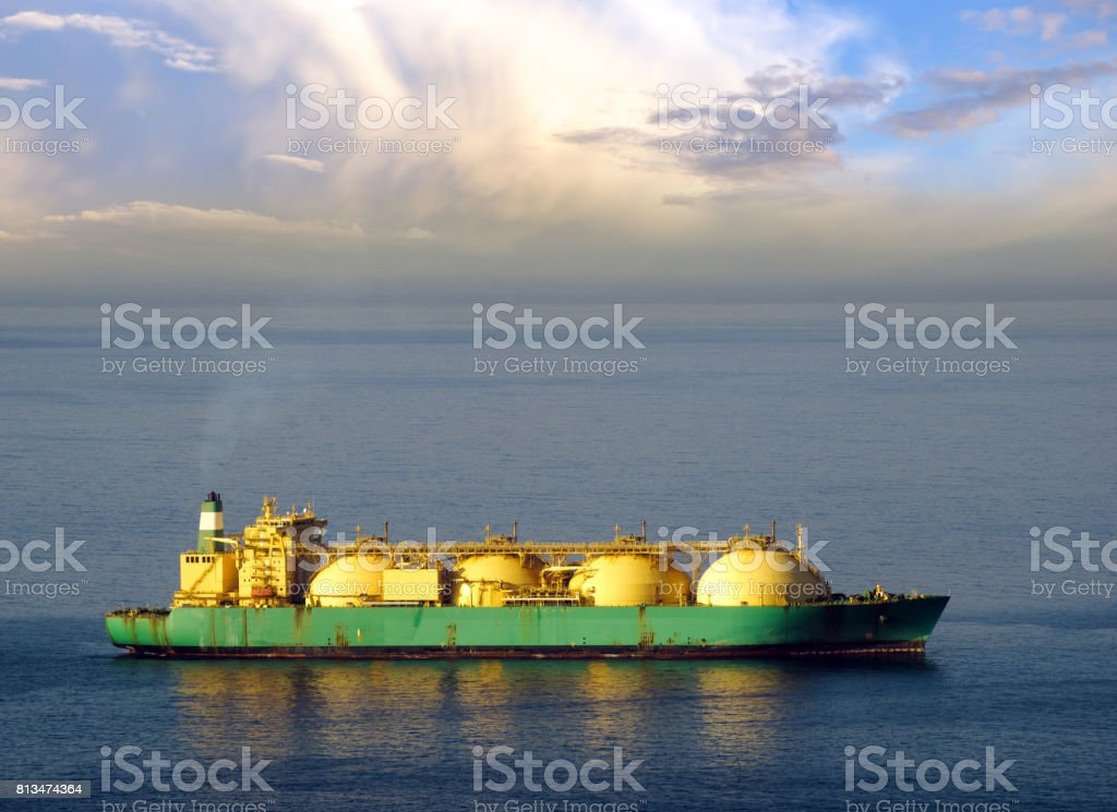 Tanker Lng in the sea stock photo