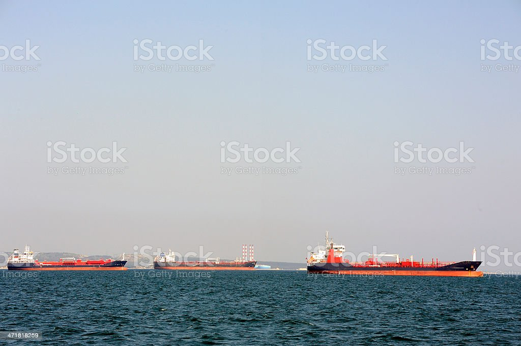 tanker on standby stock photo