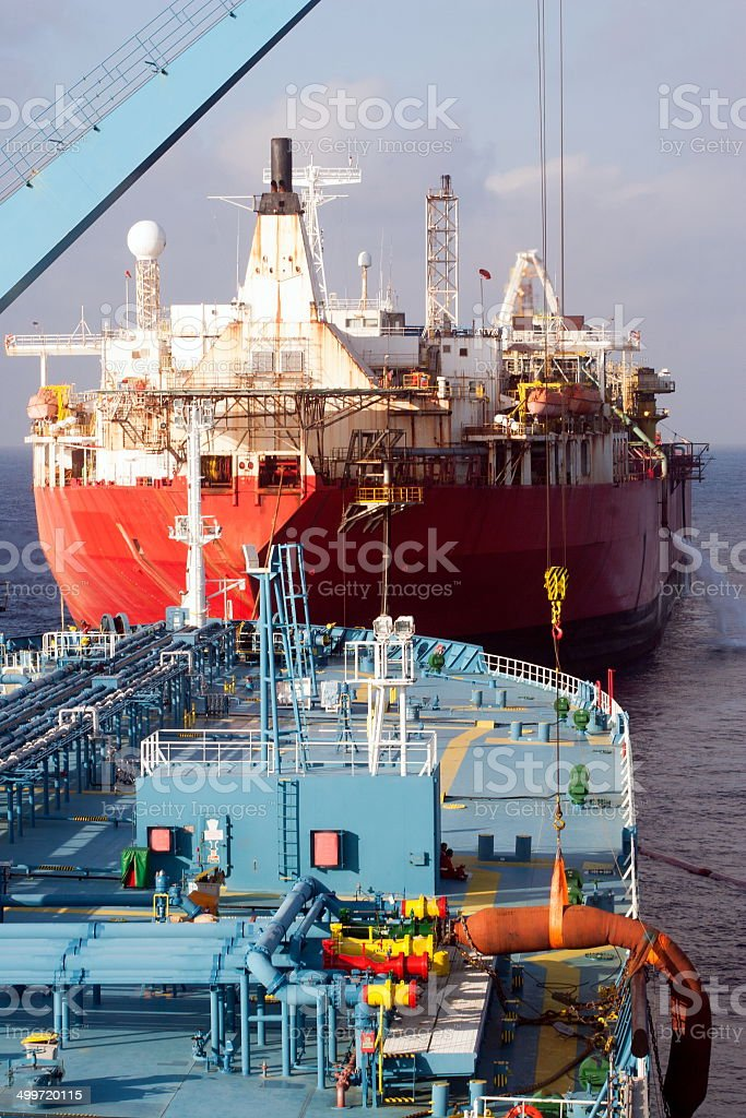 Tanker stock photo
