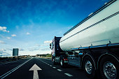 Tanker on the road