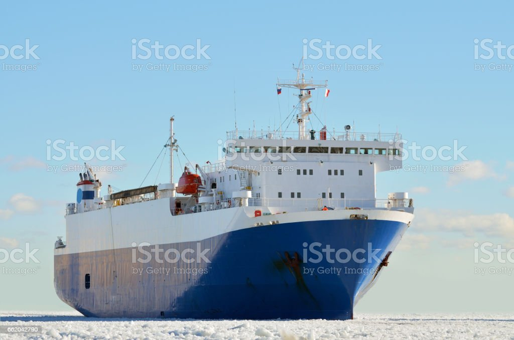 Tanker sails on the sea. royalty-free stock photo