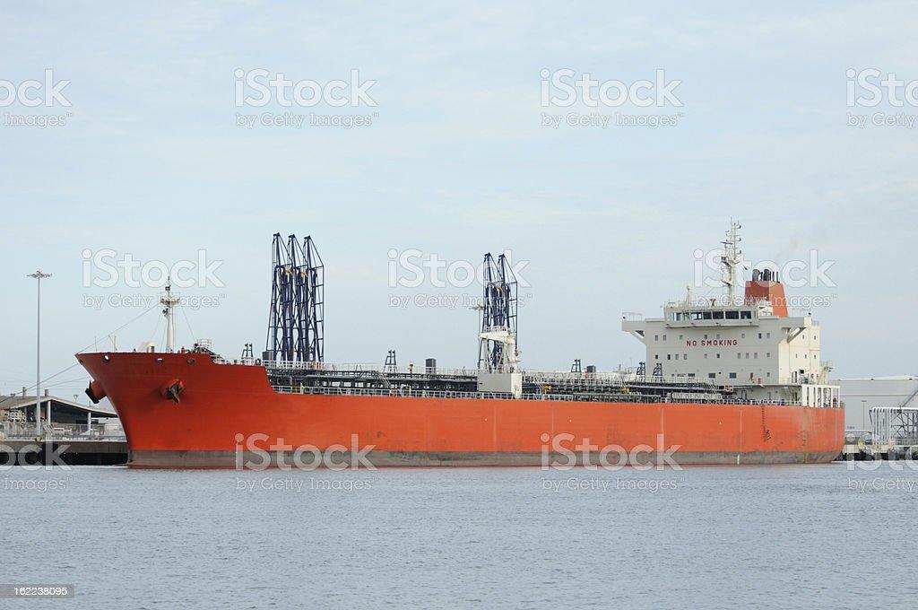 Tanker ship at dock royalty-free stock photo