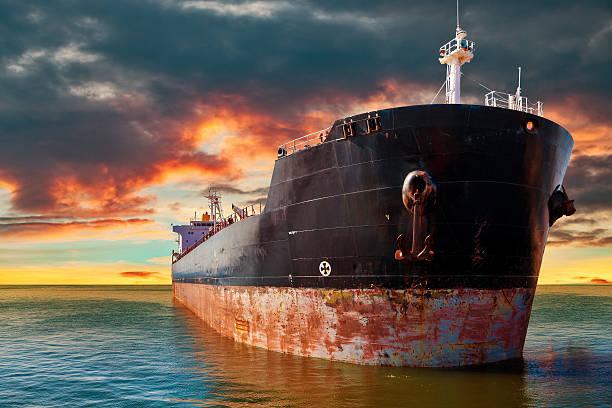 Tanker ship on sea – Foto