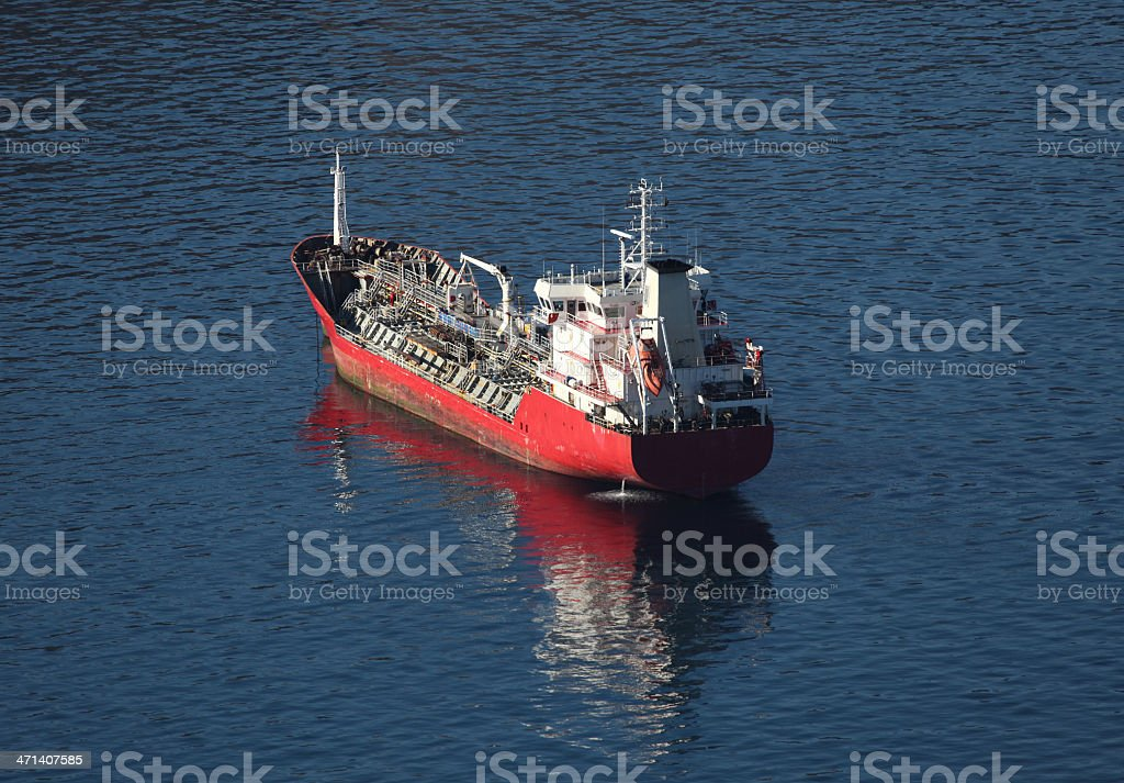 Tanker ship royalty-free stock photo
