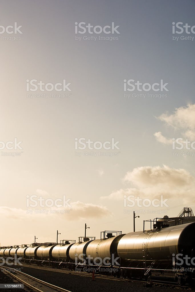 Tanker Trains In Daylight stock photo