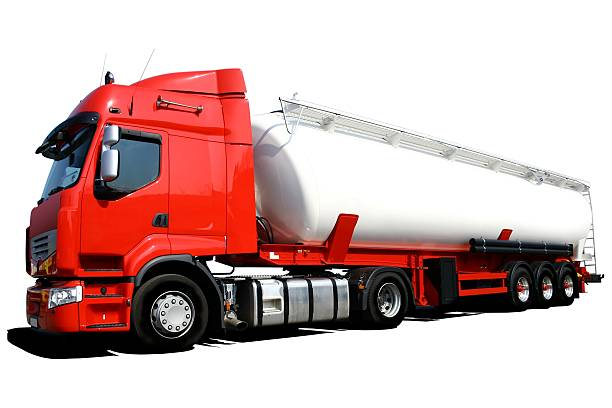 Tanker Truck Isolated stock photo