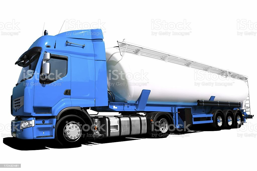 Tanker Truck Isolated royalty-free stock photo