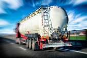 Tanker truck on the highway S3, Poland