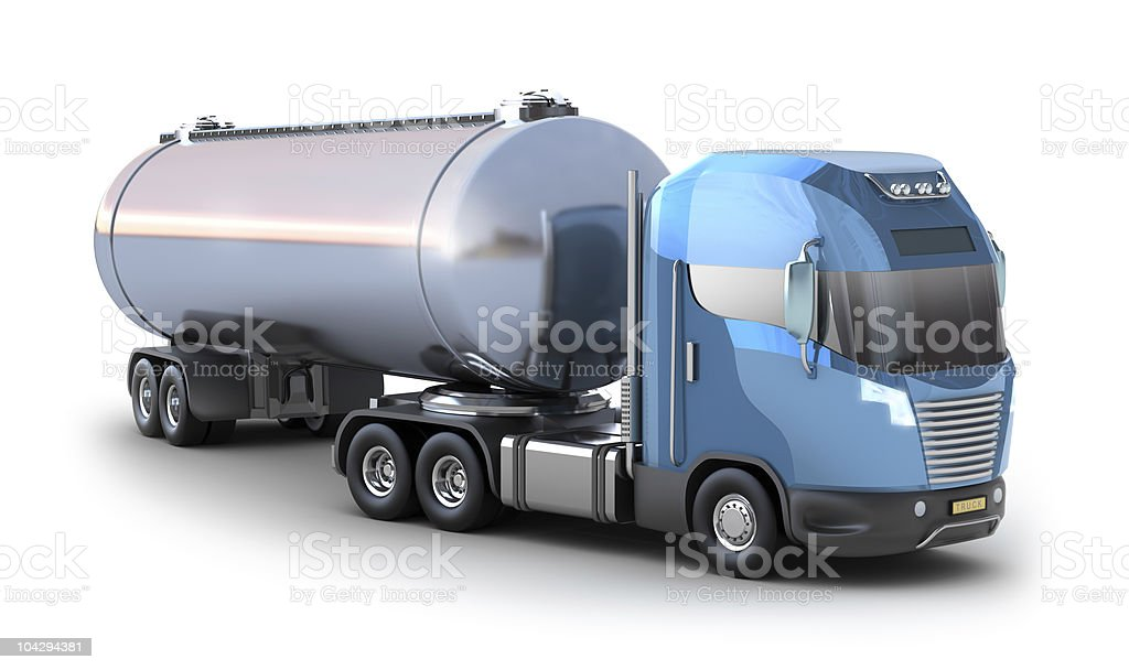 Tanker truck royalty-free stock photo