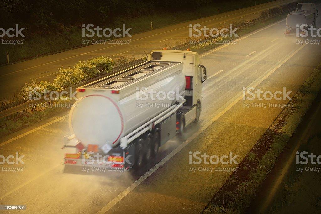 Tanker truck. royalty-free stock photo