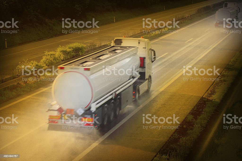 Tanker truck. stock photo