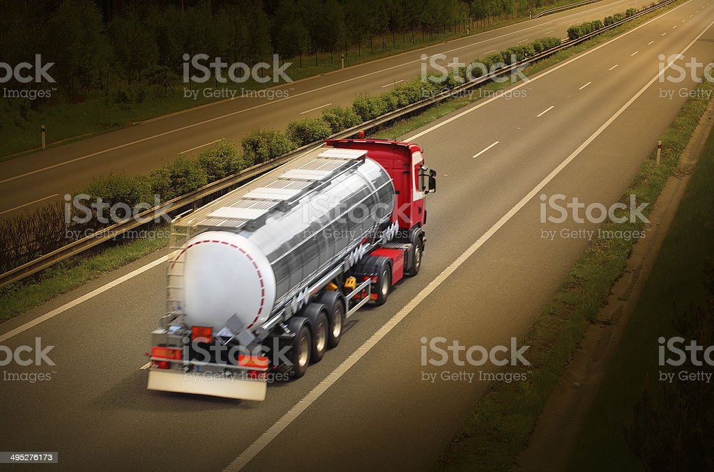 Tanker truck. stock photo