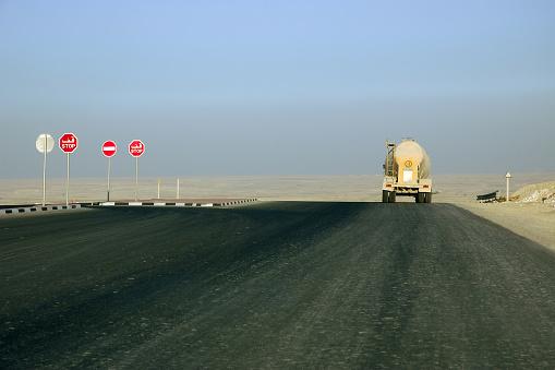 Tanker Truck Rear View