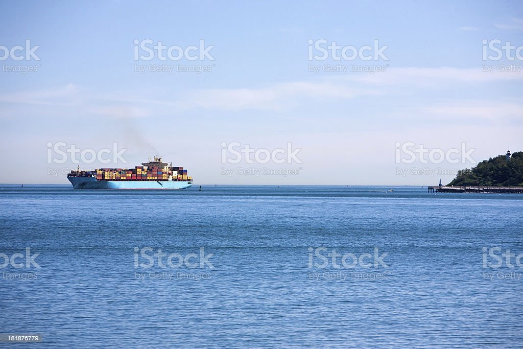 Tankeron the horizon royalty-free stock photo