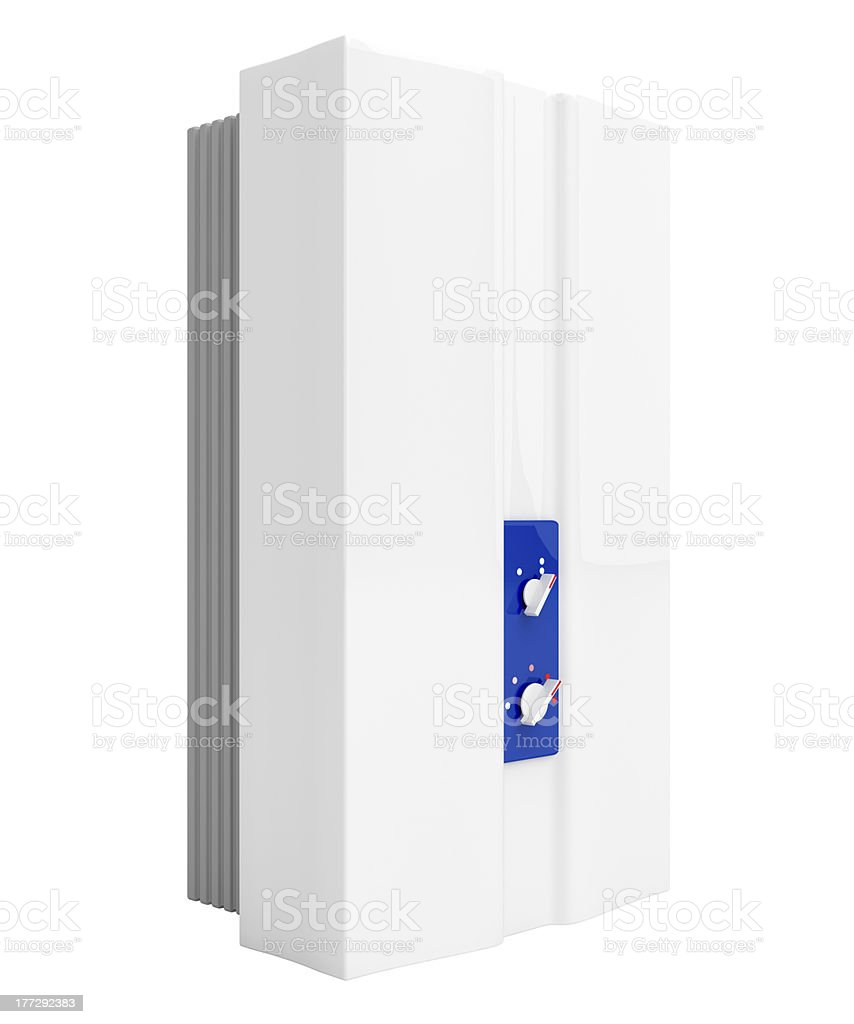 Tankless water heater stock photo